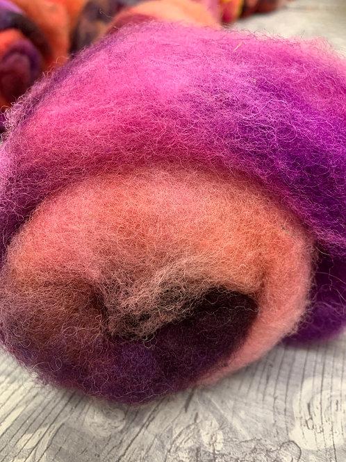 Hand dyed Finnsheep batt 067