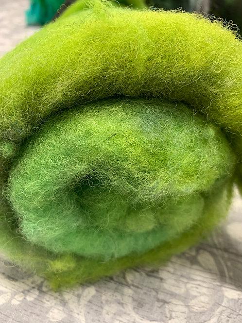 Hand dyed Finnsheep Batt 090