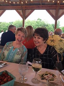 Carol & Pam at Seton Twilight Dinner.JPG