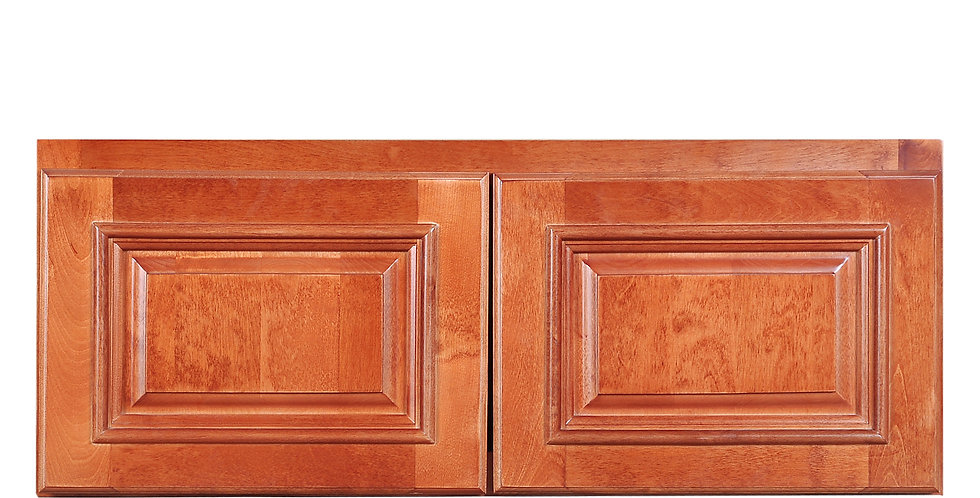 "Wine Maple Wall Cabinet 24"" Deep 12""H"