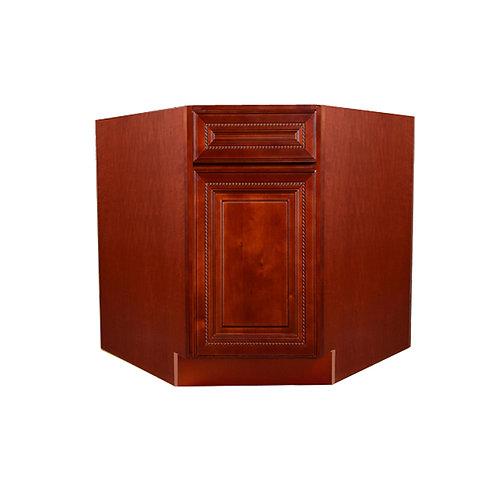 "Cherry Rope Sink Base Angle Cabinet 36""   Chung Hua"