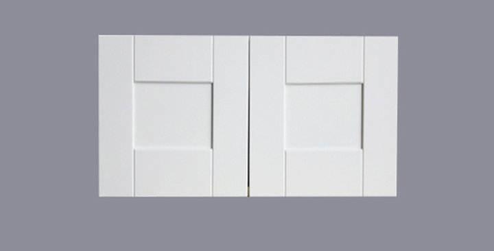 "White Shaker Wall Cabinet 24"" Deep 12""H"