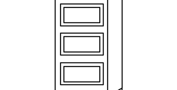 Luxury Blanco Drawer Base Cabinet 12-24