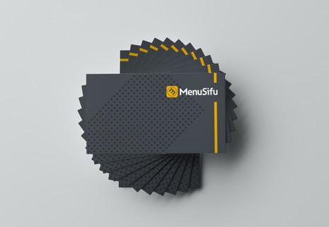 Free PSD Simple Business Card Showcase M