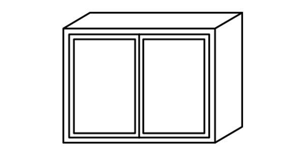 """Misty Shaker Wall Cabinet 12"""" Deep 24""""H"""