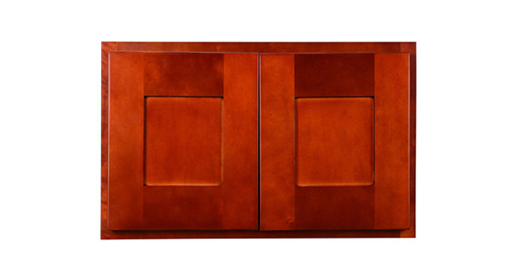 "Cherry Shaker Wall Cabinet 24"" Deep 12""H"