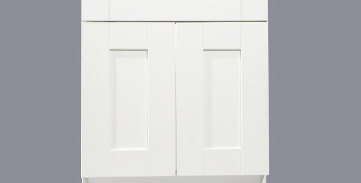White Shaker Sink Base Cabinet 27-30