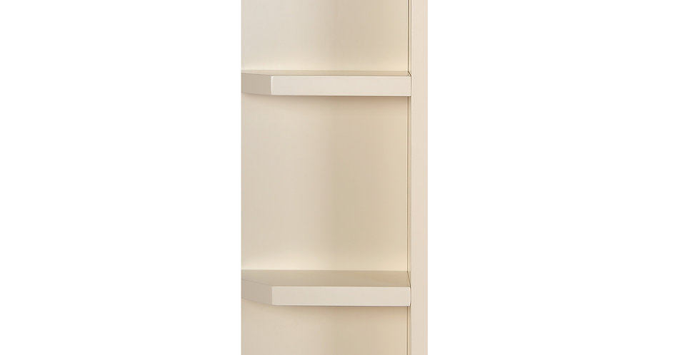 Cream White Wall End Open Shelf
