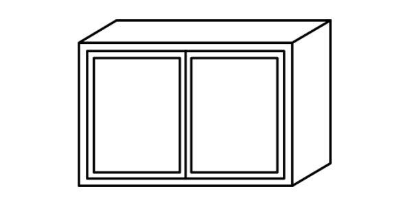 "Shaker Gray Wall Cabinet 12"" Deep 21""H"