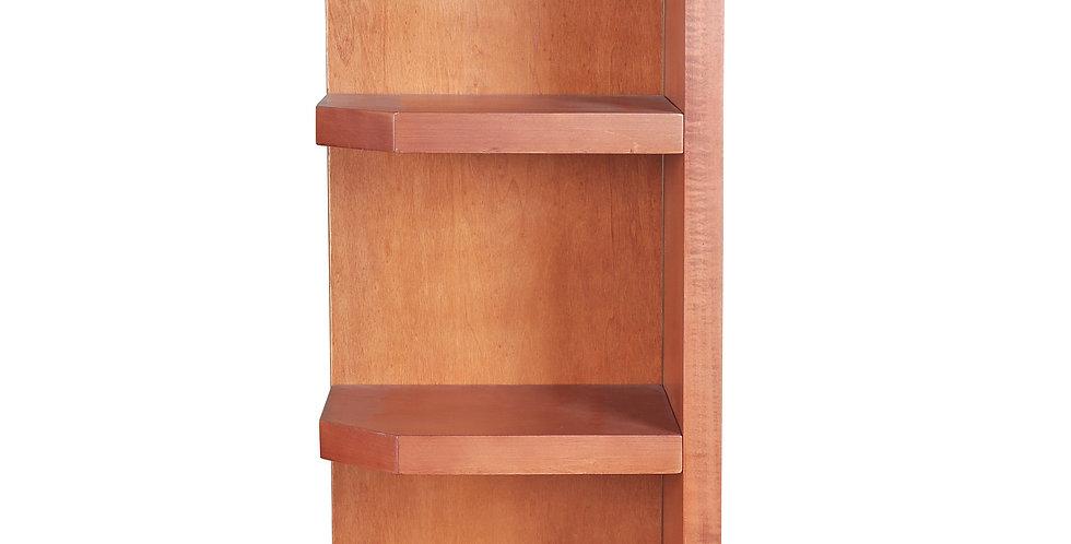 Wine Maple Wall End Open Shelf