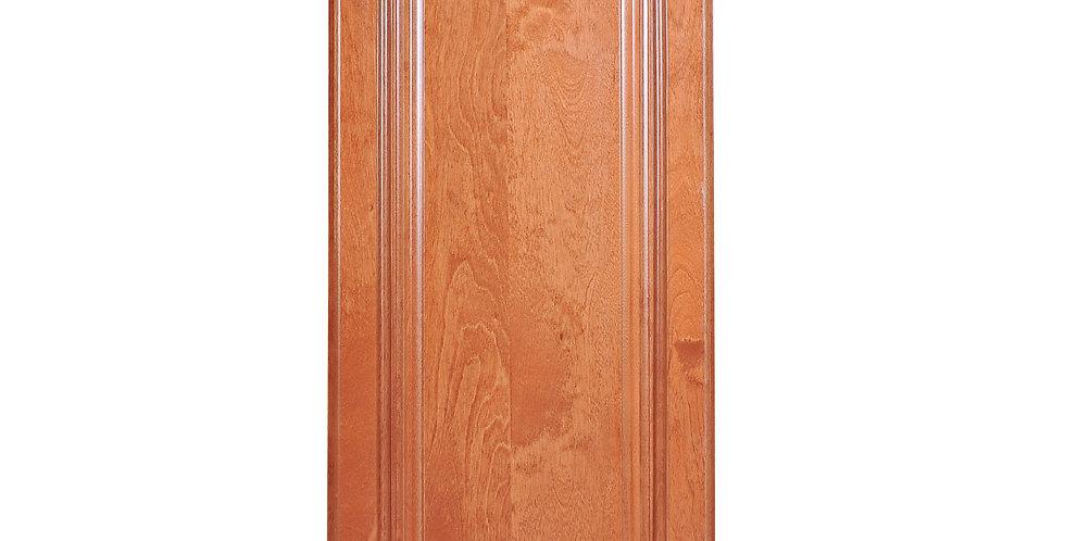 """Wine Maple Single Door Wall Cabinet 12"""" Deep 39""""H"""