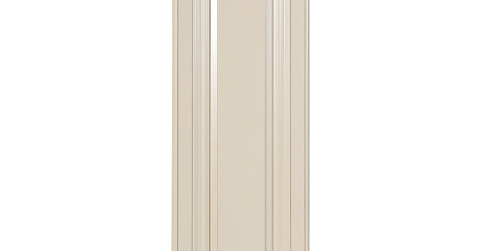 "Cream White Single Door Wall Cabinet 12"" Deep 39""H"