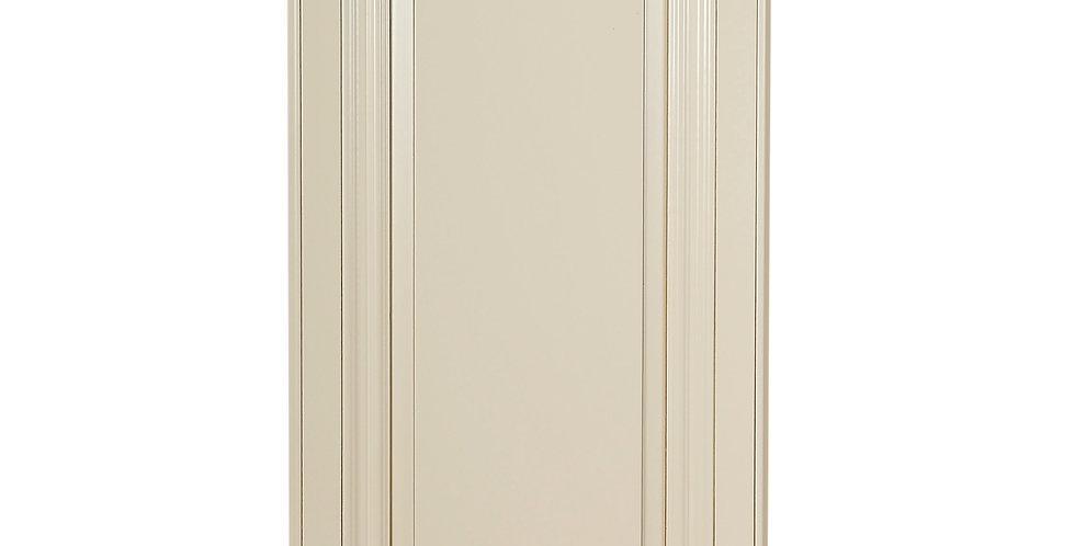 "Cream White Single Door Wall Cabinet 12"" Deep 30""H"