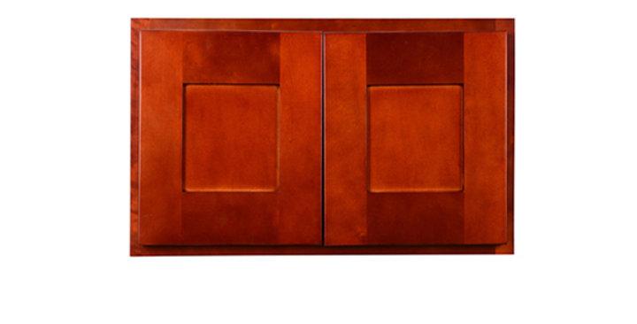 "Cherry Shaker Wall Cabinet 24"" Deep 15""H"