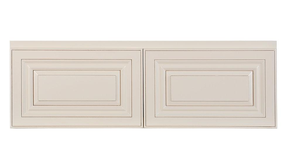 "Cream White Wall Cabinet 24"" Deep 12""H"