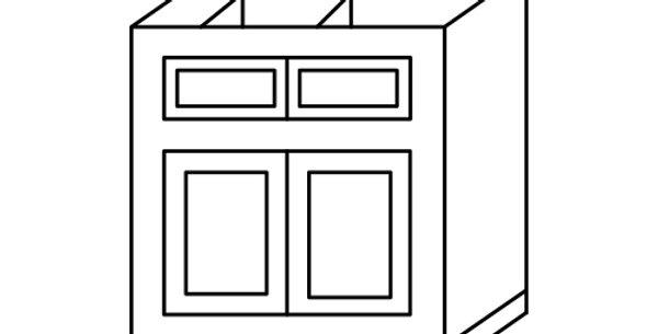 Shaker Espresso Base Cabinet 33-36
