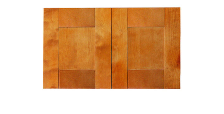 "Honey Spice Wall Cabinet 12"" Deep 15""H"