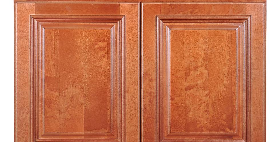 "Wine Maple Wall Cabinet 24"" Deep 21""H"