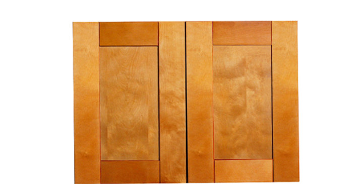 "Honey Spice Wall Cabinet 12"" Deep 24""H"