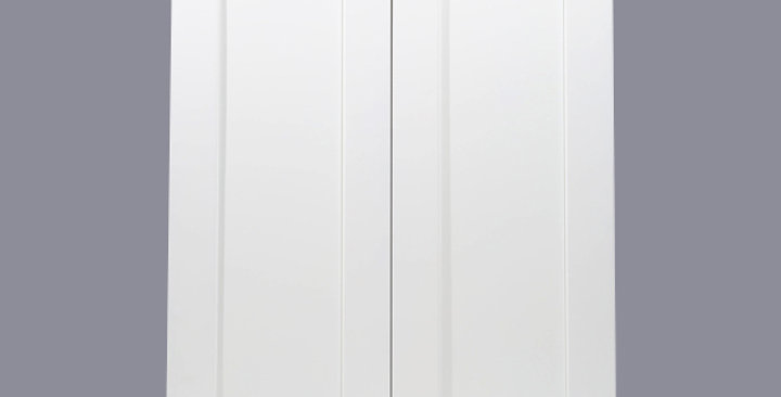 """White Shaker Wall Cabinet 12"""" Deep 39""""H"""