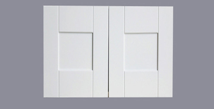 """White Shaker Wall Cabinet 24"""" Deep 18""""H"""