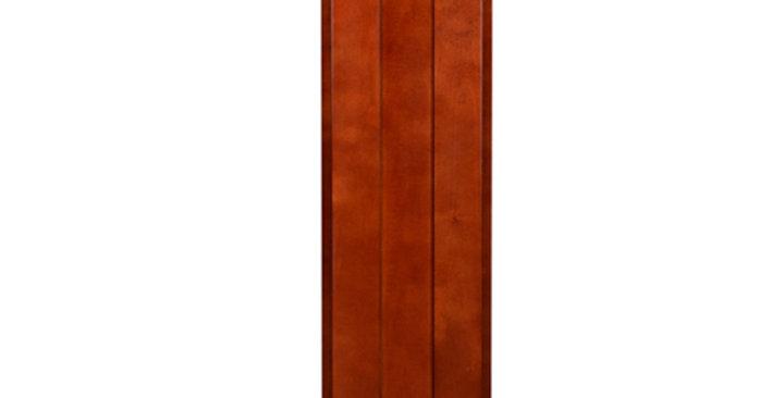 """Cherry Shaker Single Door Wall Cabinet 12"""" Deep 39""""H"""