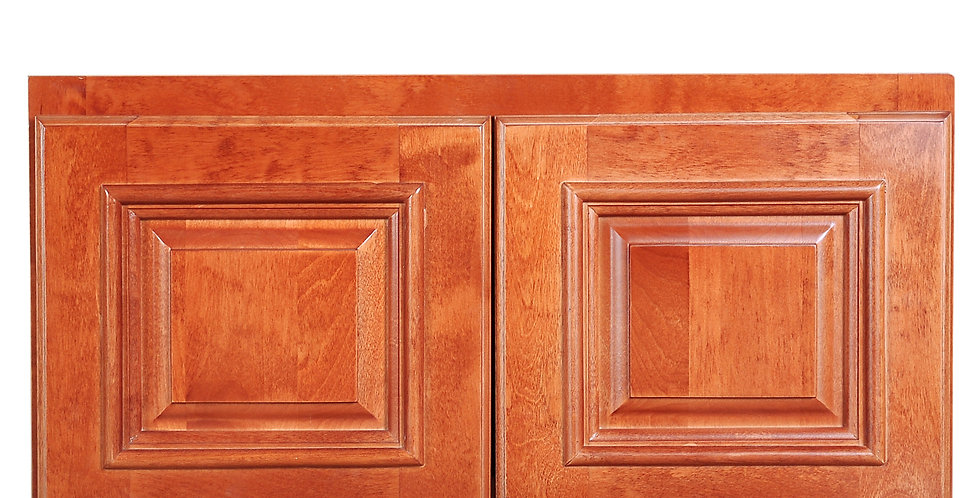 "Wine Maple Wall Cabinet 12"" Deep 12""H"