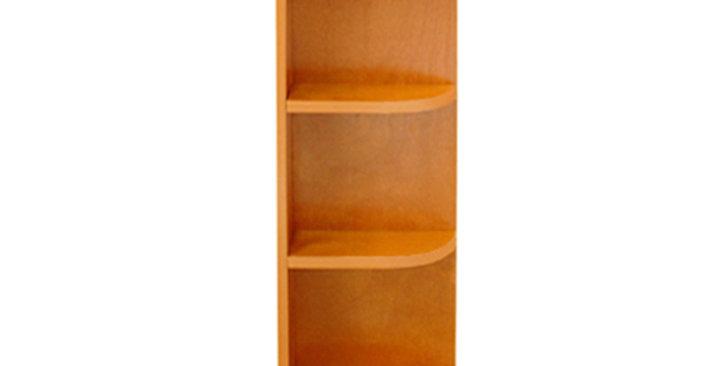 Honey Spice Wall End Open Shelf