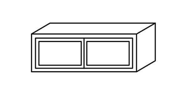"""Misty Shaker Wall Cabinet 12"""" Deep 12""""H"""