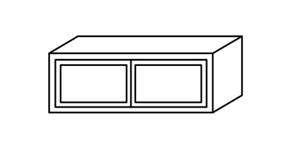 "Luxury Blanco Wall Cabinet 12"" Deep 12""H"