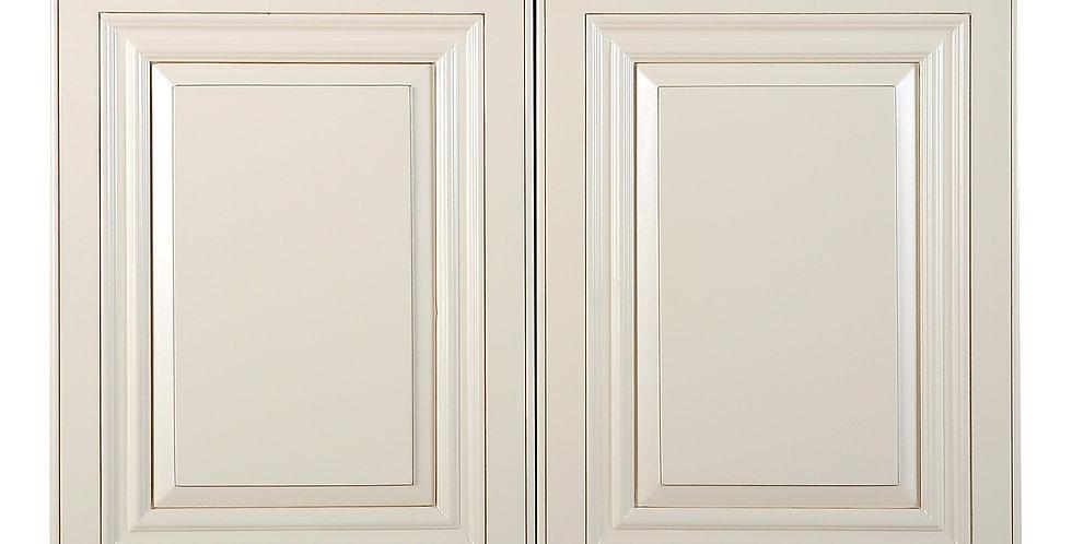 "Cream White Wall Cabinet 12"" Deep 21""H"