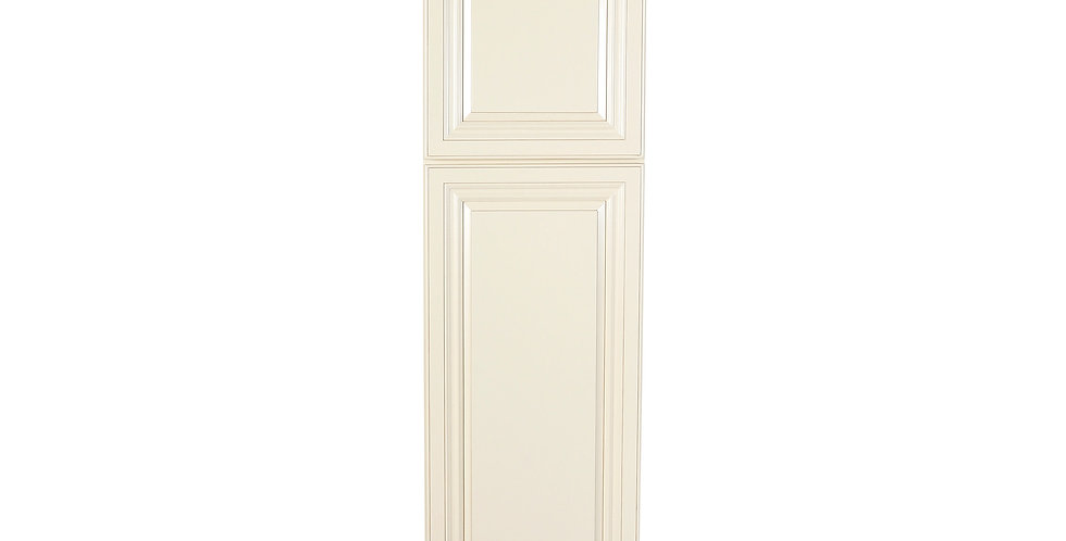 Cream White Pantry Cabinet with Two Doors