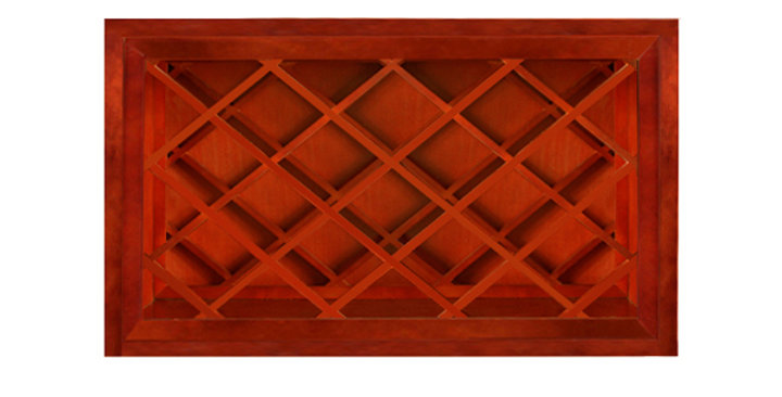 Cherry Maple Wall Wine Rack Cabinet