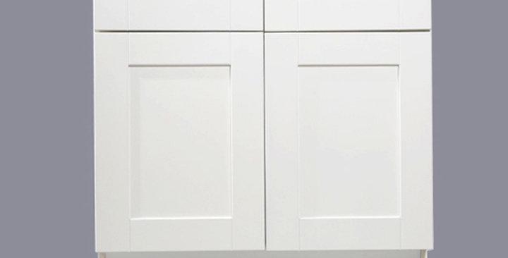 White Shaker Base Cabinet 33-36