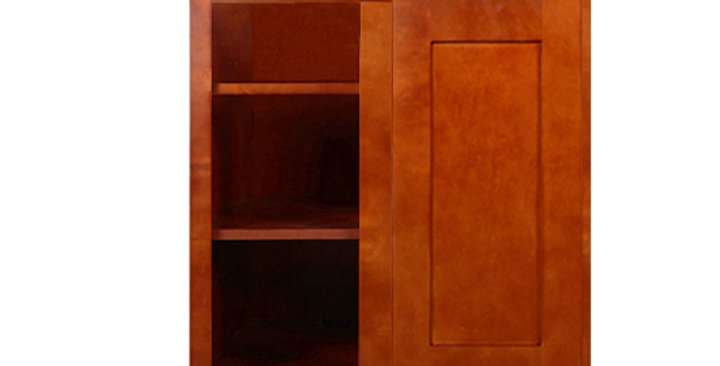 Cherry Shaker Wall Blind Corner Cabinet