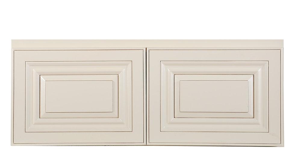 "Cream White Wall Cabinet 12"" Deep 12""H"