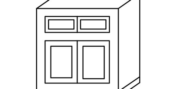 Ivory White Sink Base Cabinet 33-36