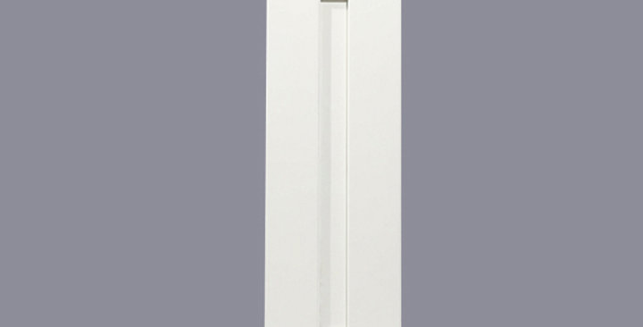 "White Shaker Single Door Wall Cabinet 12"" Deep 39""H"
