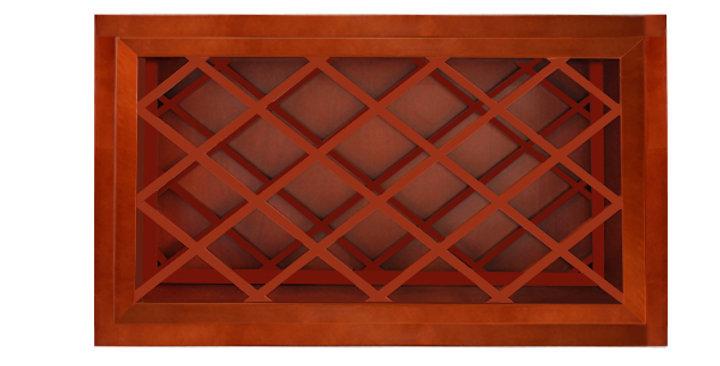 Cherry Shaker Wall Wine Rack Cabinet