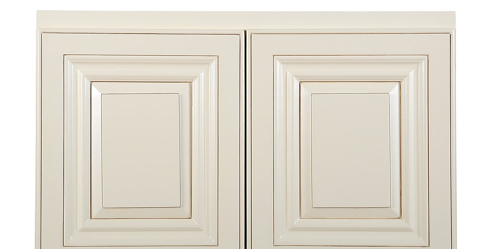 "Cream White Wall Cabinet 12"" Deep 15""H"