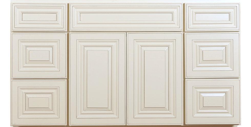 Cream White Vanity Base with Drawer 48