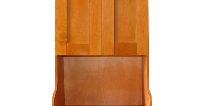 Honey Spice Wall Microwave Cabinet