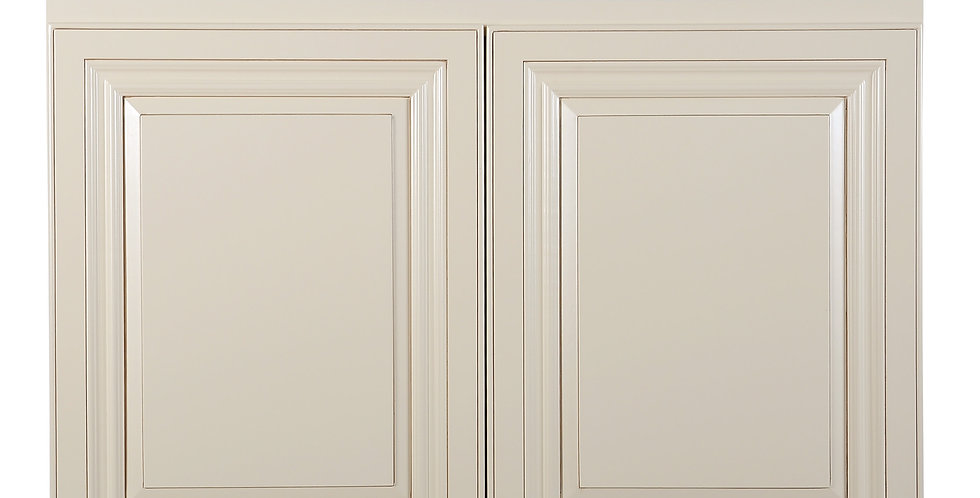 "Cream White Wall Cabinet 24"" Deep 24""H"