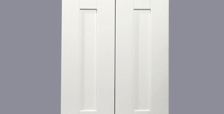 """White Shaker Wall Cabinet 12"""" Deep 30""""H"""
