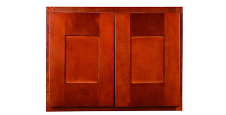 "Cherry Shaker Wall Cabinet 12"" Deep 21""H"