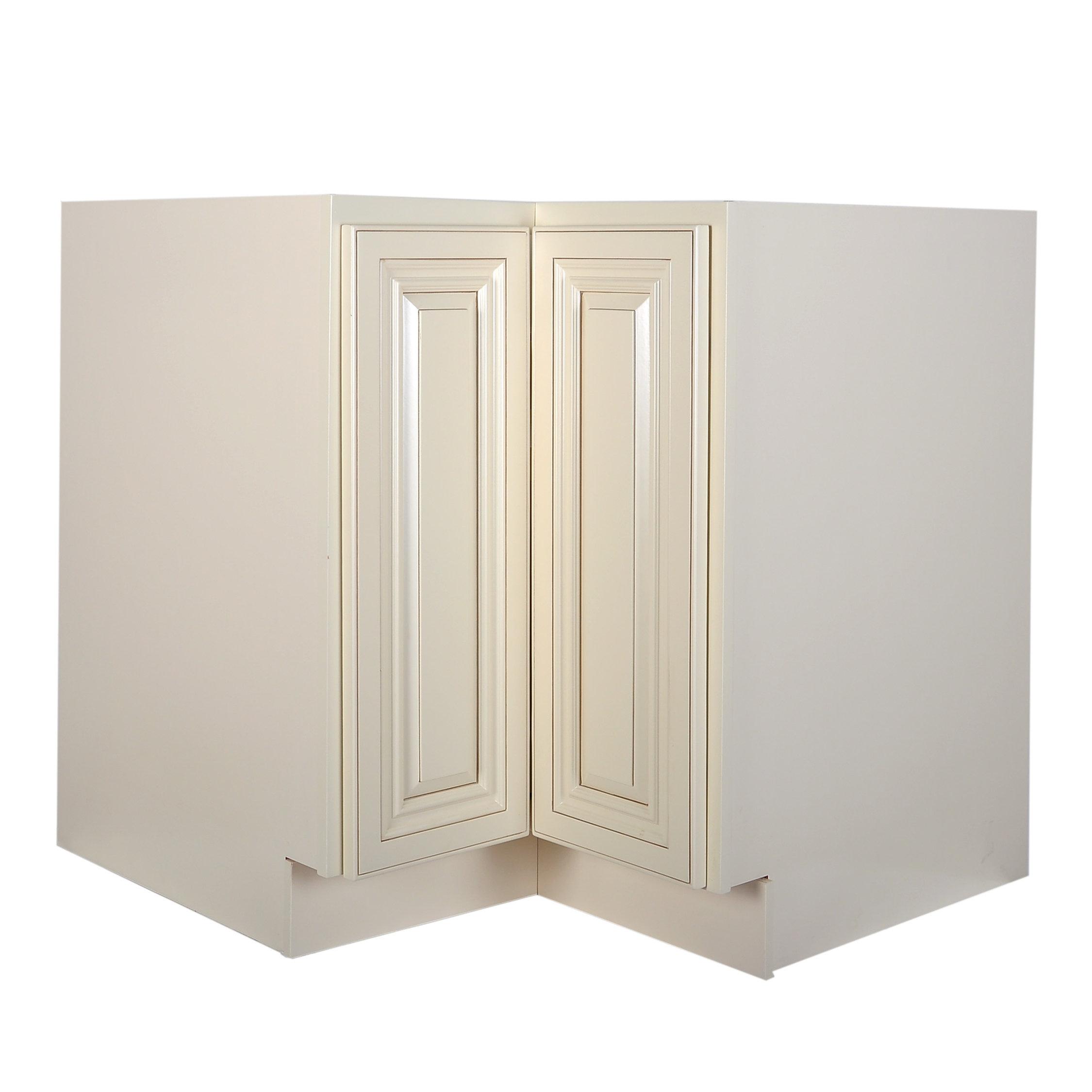 Cream White Lazy Susan Base Cabinet 33