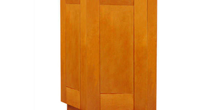 Honey Spice Base End Angle Cabinet with Two Doors
