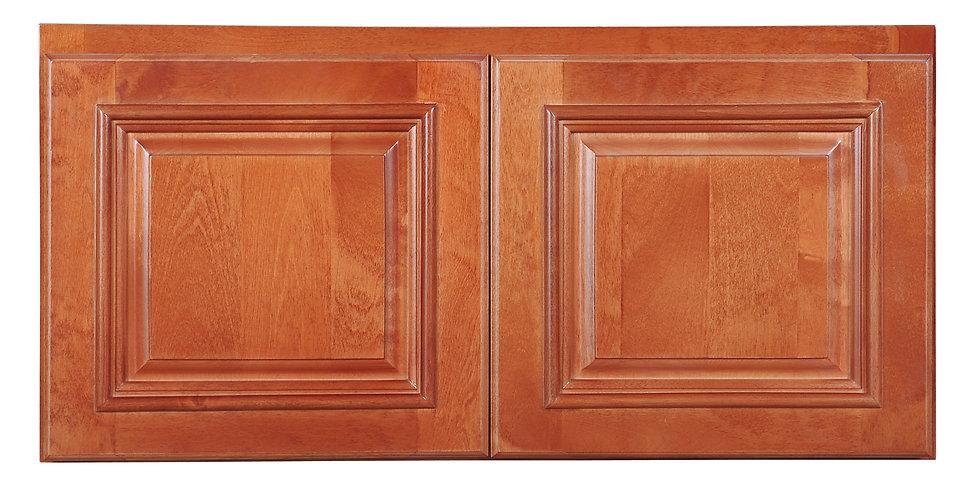 "Wine Maple Wall Cabinet 24"" Deep 15""H"