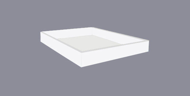 White Shaker Roll-out Tray