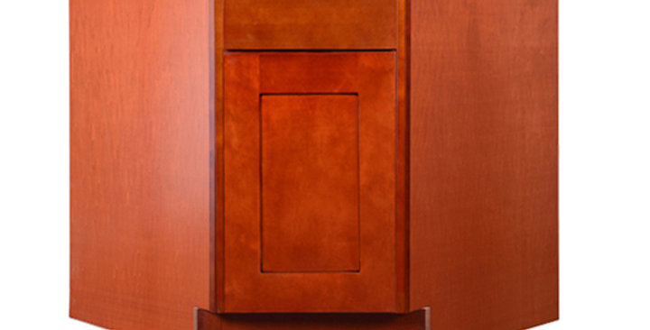 "Cherry Shaker Sink Base Angle Cabinet 36"""